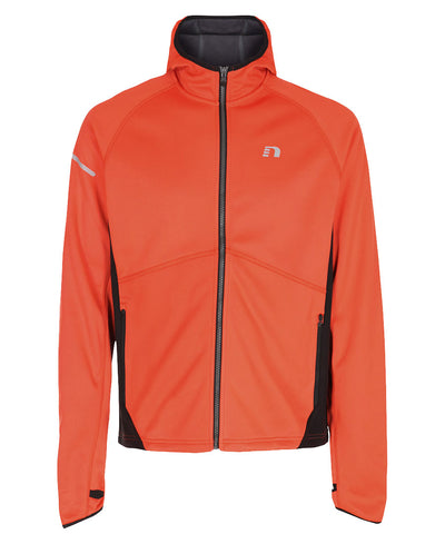 men's base warm up jacket orange by newline for aktiv scandinavian activewear front view