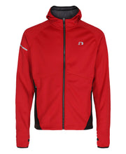 men's base warm up jacket red by newline for aktiv scandinavian activewear front view