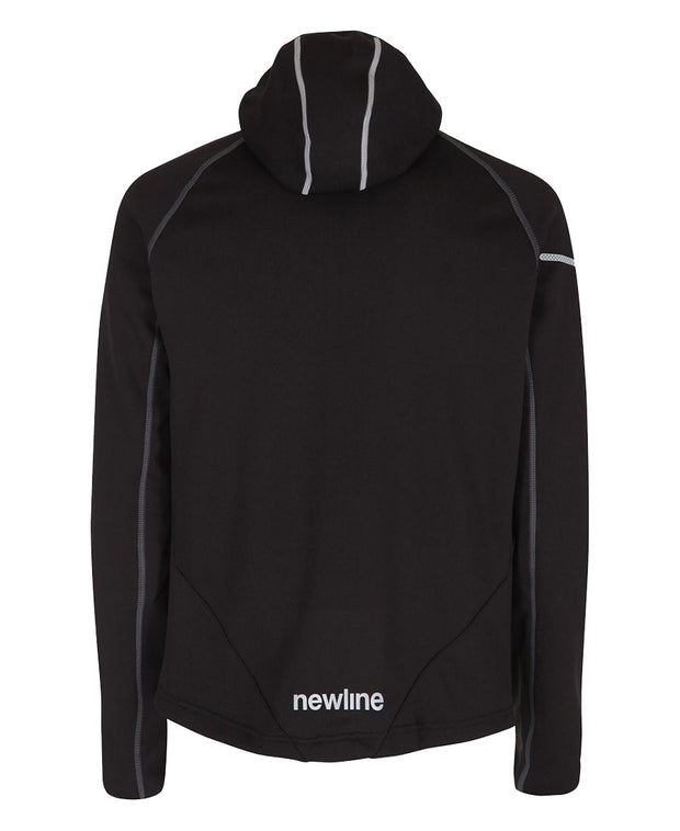 men's base warm up jacket black by newline for aktiv scandinavian activewear back view