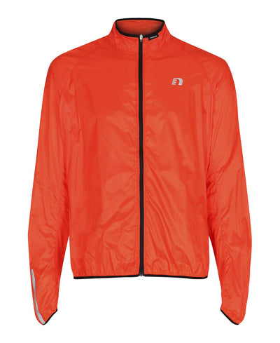 men's orange base windpack jacket by newline for aktiv scandinavian running clothes front view