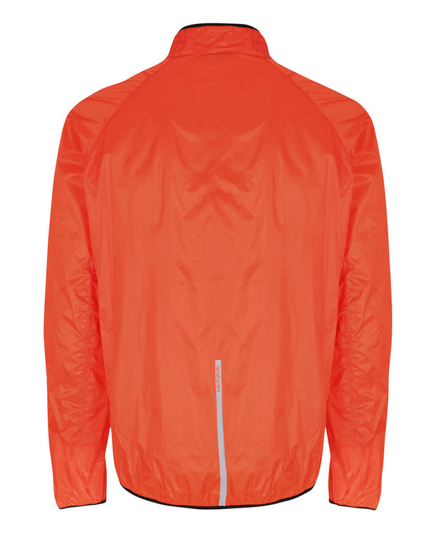 men's orange base windpack jacket by newline for aktiv scandinavian running clothes back view