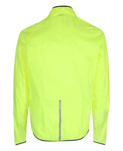 men's base windpack jacket neon yellow by newline for aktiv scandinavian running clothes back view