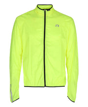 men's base windpack jacket neon yellow by newline for aktiv scandinavian running clothes front view