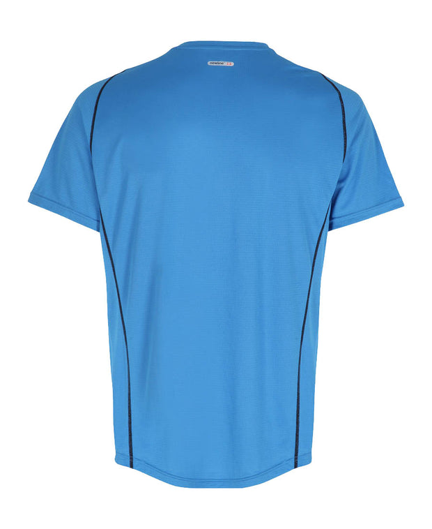 men's base coolskin tee blue by newline for aktiv activewear back view