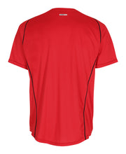 men's base coolskin tee red by newline for aktiv activewear back view