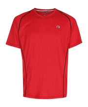 men's base coolskin tee red by newline for aktiv activewear front view