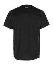 men's base coolskin tee black by newline for aktiv activewear back view