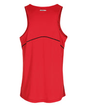 men's base coolskin singlet red by newline for aktiv activewear back view