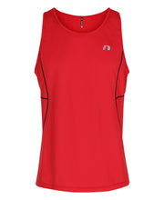 men's base coolskin singlet red by newline for aktiv activewear front view