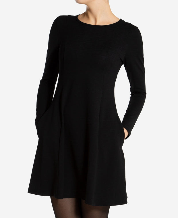 Woman in Black Fjord Flared Dress by We Norwegians