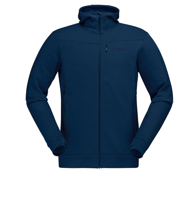 Dark blue zipped hoodie for men by Norrona