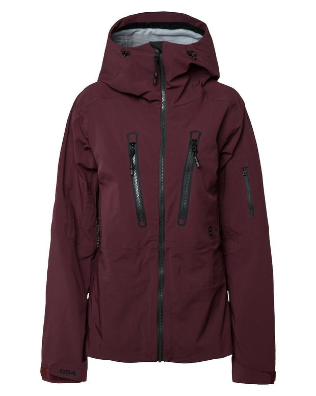 Maroon ski jacket by 8848 Altitude