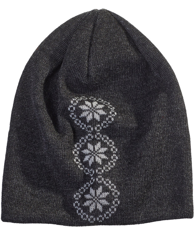 Gray Beanie with Snowflakes by Seger for Aktiv Unisex Outdoor