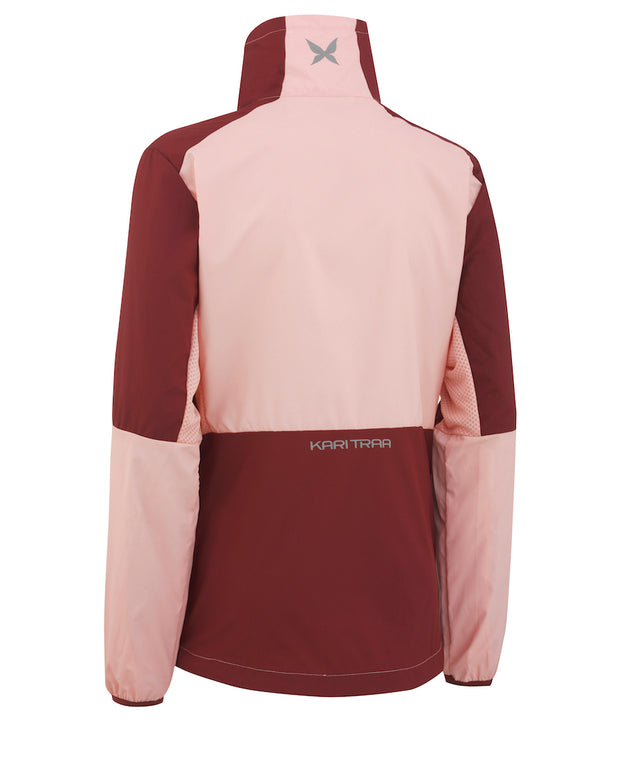 Nora Training Jacket in Soft Pink and Wine by Kari Traa of Norway Back View