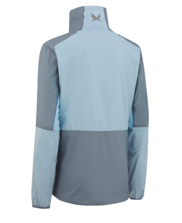 Nora Training Jacket in Cloud Blue and Jeans Blue by Kari Traa of Norway Back View
