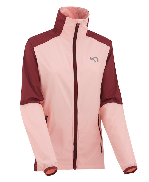 Nora Training Jacket in Soft Pink and wine by Kari Traa of Norway  View