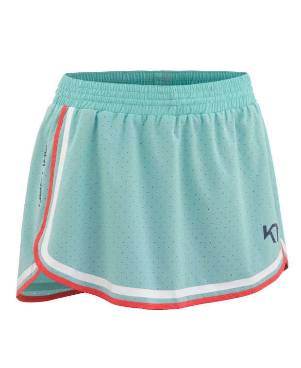 Retro Elisa Skort in Mint Green/Turquoise with Red piping and white reflective tape by Kari Traa for Aktiv