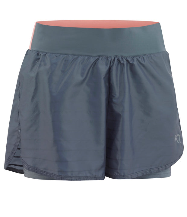 Front View of Sigurn Shorts in Jeans Blue by Kari Traa for Aktiv Women