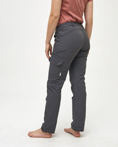Woman wearing gray hiking pants by Kari Traa