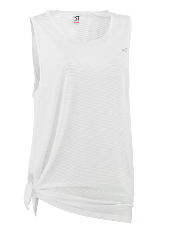 White tank top with a side tie by Kari Traa