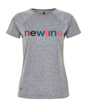 black heather logo tee by newline for aktiv scandinavian athletic wear front view