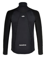 black thermal power shirt men's by newline for aktiv scandinavian athletic wear back view