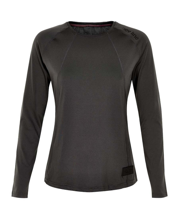black airflow shirt by newline for aktiv scandinavian athletic wear front view