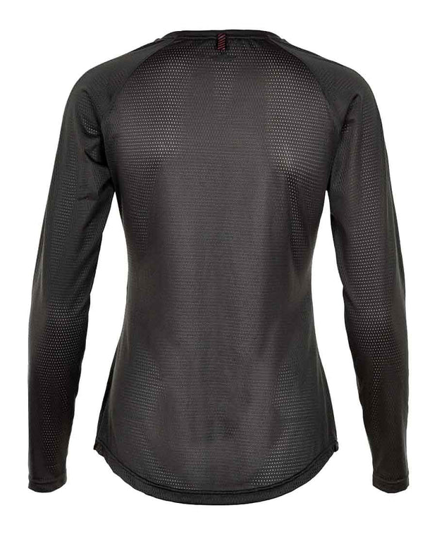 black airflow shirt by newline for aktiv scandinavian athletic wear back view