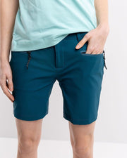 Teal colored hiking shorts for women by 8848