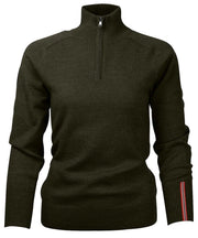 Amundsen Peak Half-Zip Turtle Neck Sweater in earth green for office or home