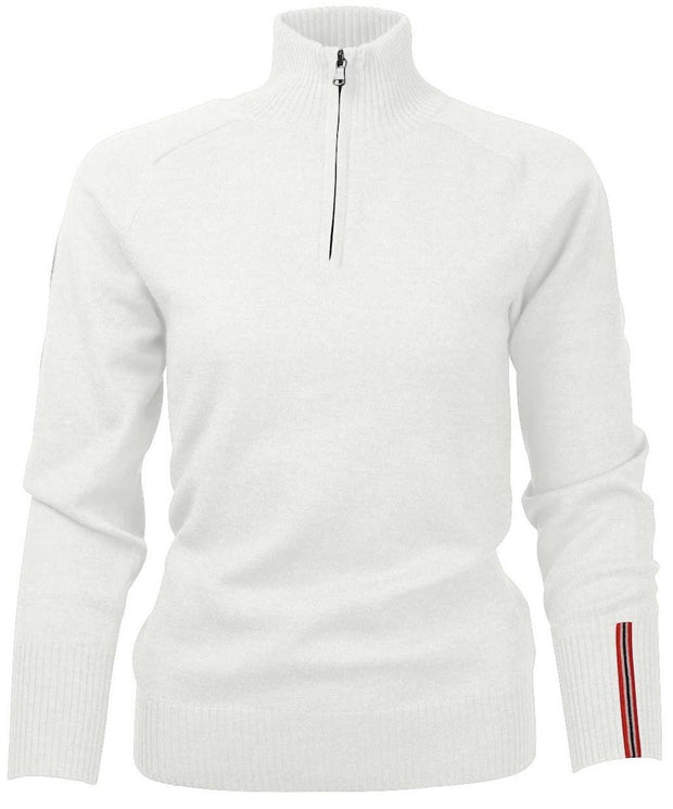 Amundsen Peak Half-Zip Turtle Neck Sweater in oatmeal off white for office or home