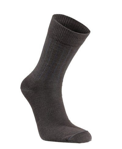Charcoal Wool Blend Light Weight Scandinavian Everyday Sock by Seger for Aktiv Unisex