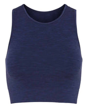 seamless crop top in aura blue by moonchild yoga wear for aktiv scandinavian athleisure front view