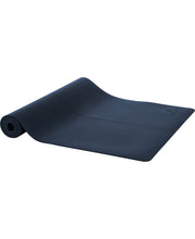 aura blue stay grounded yoga mat by moonchild yoga wear for aktiv scandinavian athleisure rolled out view