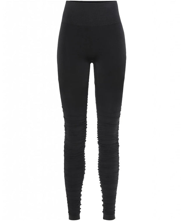 front view Black Iris Ballet Leggings by Moonchild Yoga Wear available at Aktiv