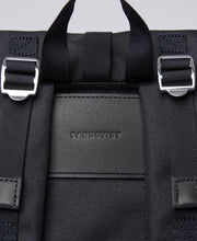 Back view of Rolltop Backpack by Sandqvist in Black