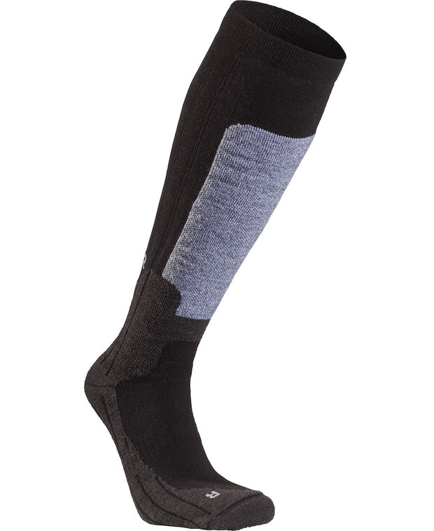 Gray and Black Byggmark Mid-Weight Compression sock by Seger for Aktiv Outdoors