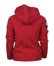 boiled hoodie laced mens red by amundsen sports for aktiv scandinavian outdoor wear back view