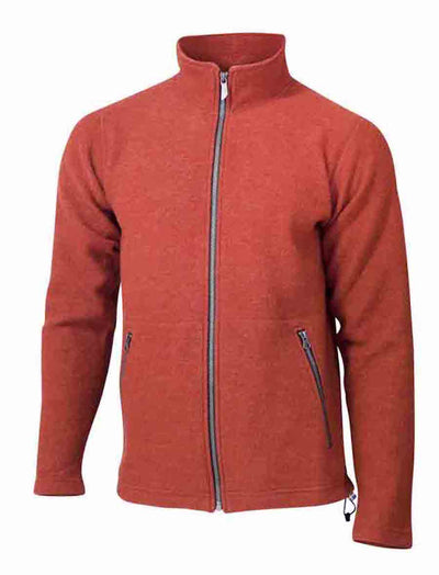 Red Clay Full Zip Sweater for Men by Ivanhoe of Sweden