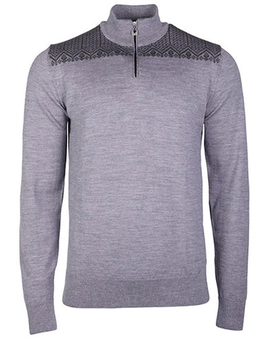 Gray Norwegian sweater for men