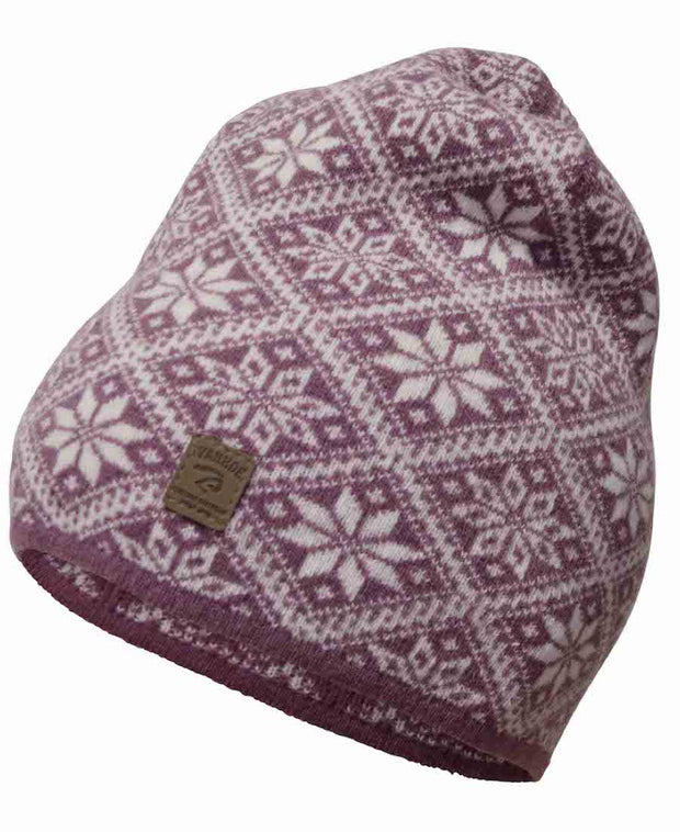 Maroon or Heather Norwegian Star Hat by Ivanhoe of Sweden for Aktiv Outdoor Use