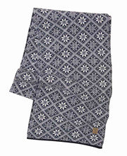 Navy Elsie Scarf in Norwegian Star Pattern by Ivanhoe of Sweden for Aktiv Outdoor Use