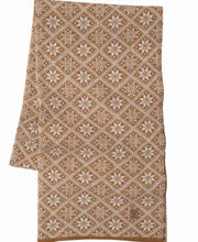 Amber Gold Elsie Scarf in Norwegian Star Pattern by Ivanhoe of Sweden for Aktiv Outdoor Use