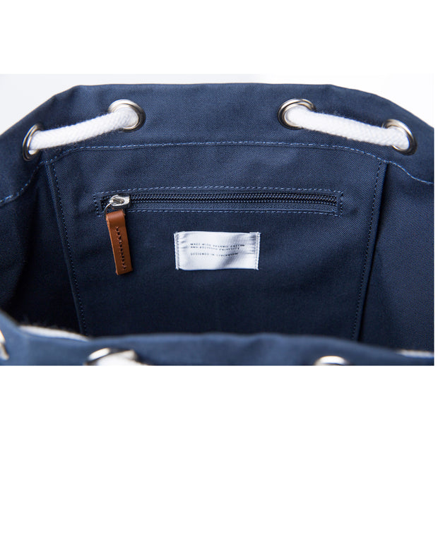 Evert Sailor style duffle backpack Interior in Navy by Sandqvist for Aktiv