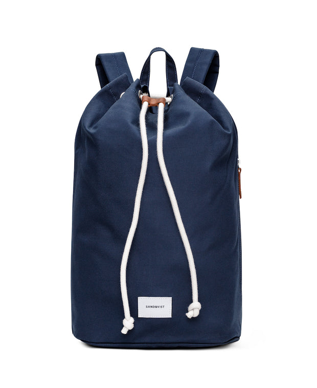Evert Sailor style duffle backpack in Navy