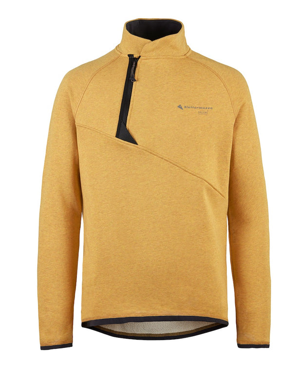 front view of men's falen crew sweatshirt by klattermusen in honey available at aktiv