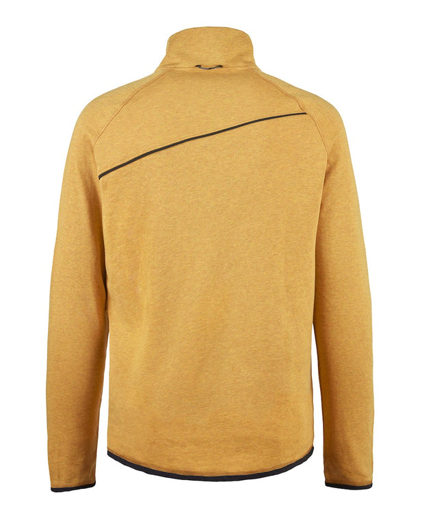 back view of men's falen crew sweatshirt by klattermusen in honey available at aktiv