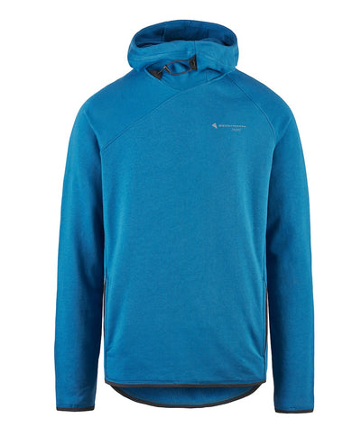front view of men's falen hoodie by klattermusen in sapphire blue available at aktiv