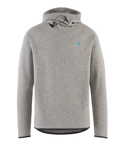 front view of men's falen wooly hoodie by klattermusen in dark moon grey available at aktiv