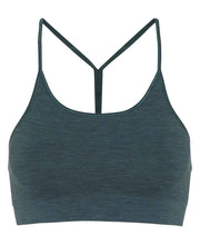 seamless zen bra top in forest green by moonchild yoga wear for aktiv scandinavian athleisure front view